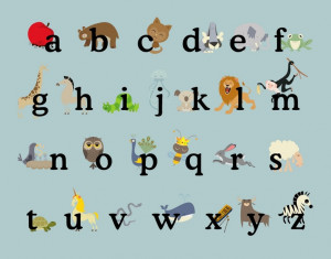 abc's animals free printable