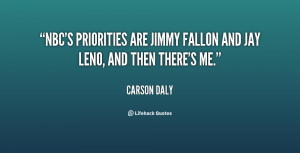 NBC's priorities are jimmy Fallon