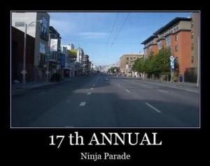 ninja parade funny pics