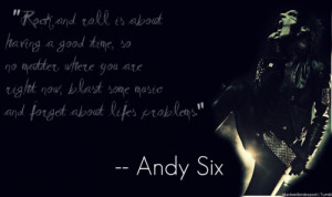 andy sixx #andy biersack #andy biersack quotes #quotes #rock and roll