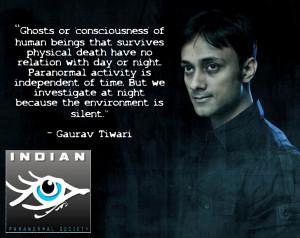 Paranormal Investigators: Past & Present: Reverend Gaurav Tiwari