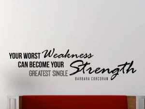 Barbara Corcoran motivational typography quote wall decal