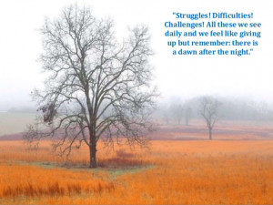 Quotes About Getting Through Struggles Difficulties! challenges!