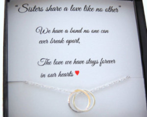 ... quote, wedding gift for Sister, Connecting circles, Bond between