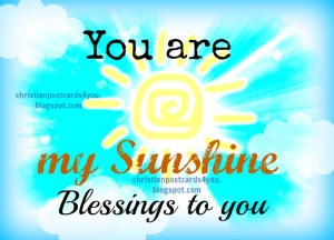 you are my sunshine free card