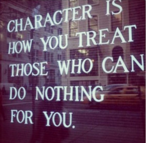 CHARACTER DOESN'T COME FROM USING PEOPLE