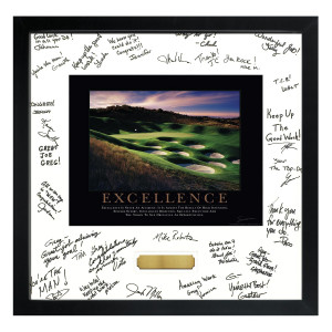 Excellence Golf Framed Signature Motivational Poster (700358)
