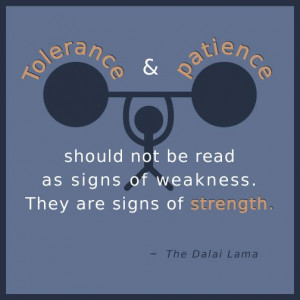 should not be read as signs of weakness. they are signs of strength ...