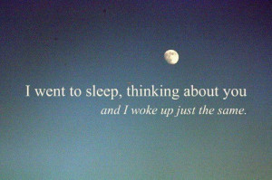couple, cute, love, moon, quote, sleep, thinking, you