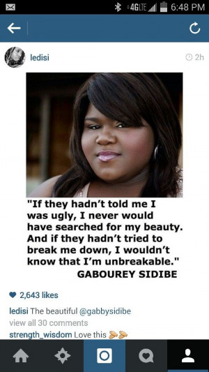 Gabourey Sidibe quote