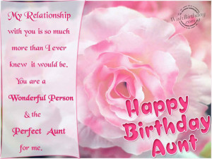 Special Aunt Quotes Happy birthday aunt