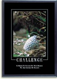 Stewart Superior -Challenge- Motivational Picture, Black Frame, 23.5 x ...