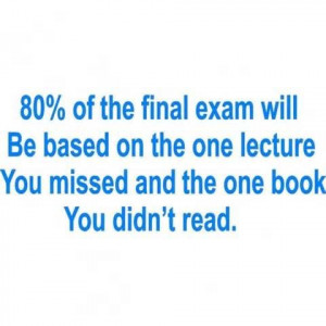 ... School | Logic When Taking Final Exam Funny Pictures Quotes Pics