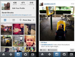 an example: left is my Instagram profile; right is the photo feed of ...