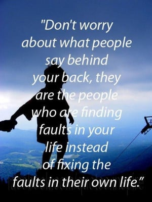 Dont let other people bring you down