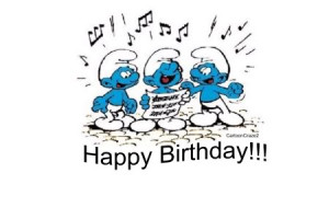All Graphics » HAPPY BIRTHDAY SMURFS