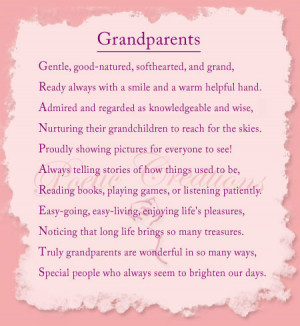 grandparents are a blessing for us It is into us that the lives of grandparents have gone it is in us that their history becomes a future ~charles and ann morse.
