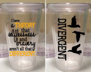 Divergent Quote 16 oz. Tumbler with three birds ...