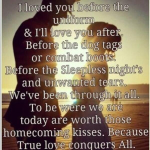 Cute Army Quotes Military couple quote