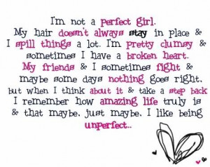 ... Girl Hair Doesnt Stay Place Spill Things Pretty Clumsy Quote Quotes