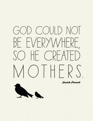 Love Quote for Mothers // Jewish Proverb // Art Print // Unique Gifts ...