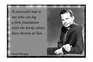 David Brinkley's famous success quotes.