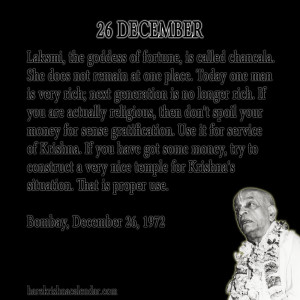 Quotes About December Month ~ Srila Prabhupada's Quotes In December ...