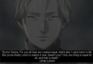 johan liebert #naoki urasawa's monster #naoki urasawa #anime quotes