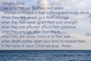 Prayer For Healing The Sick The following prayer is taken
