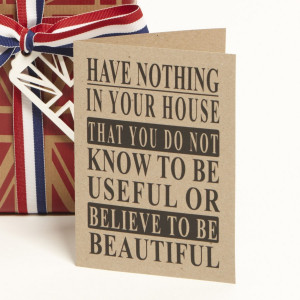 Home > Cards > Quote > Rustic Quote - William Morris