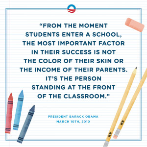 Keeping his word: Putting teachers in the classroom