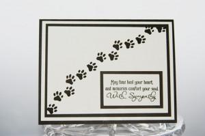 ... Card, Pawprints Loss of Pet Card, Dog Sympathy Card, Cat Sympathy Card