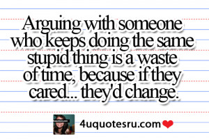 Quote: Arguing with someone