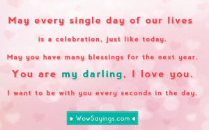 Happy Birthday Quotes for Wife #51 at WowSayings.com