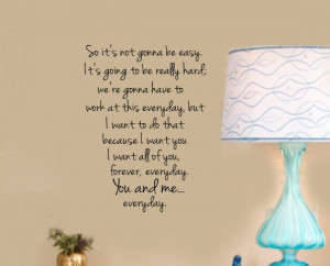 THE NOTEBOOK You and Me Quote VInyl Wall Lettering Decal Note Book ...