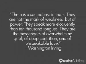 "... of deep contrition, and of unspeakable love."" — Washington Irving"