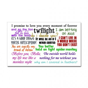 Edward Cullen Quotes Rectangle Magnet