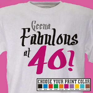 Fabulous Personalized 40th Birthday T-Shirt