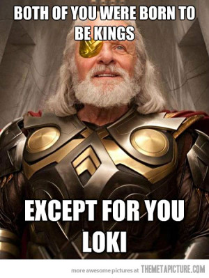Funny photos funny Thor dad Odin