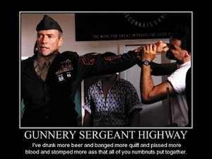 Gunnery Sergeant Highway Quotes