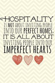 This is one of my favorites. Hospitality is key More