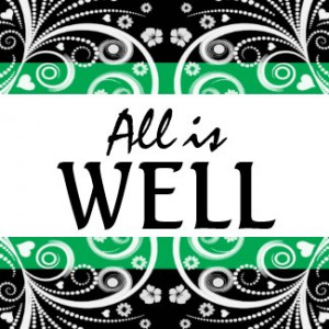 All is Well 3 word quote magnet by semas87