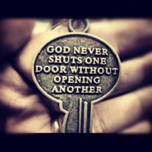 God. Life. Quote key. Door
