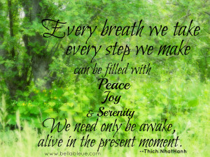 We Take Every Step We Make Can Be Filled With Peace Joy And Serenity ...