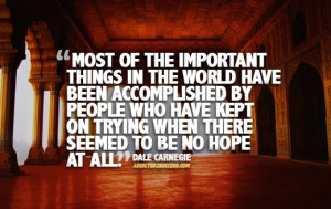 Dale Carnegie Picture Quote