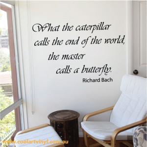 Caterpillar Wall Sticker Quote