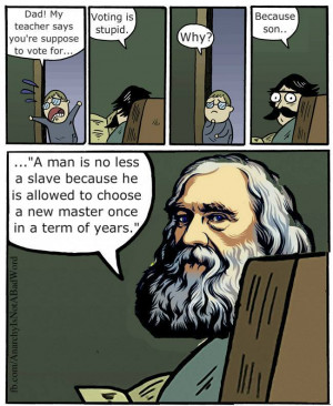Welcome To Election Day Lysander Spooner Dad Meme Quote