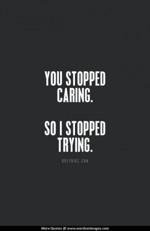 Quotes about not caring