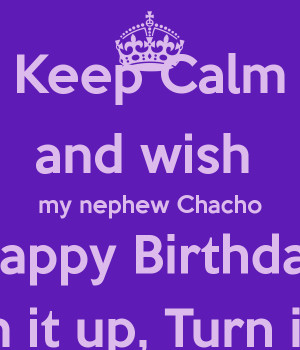 Happy Birthday Nephew Keep Calm