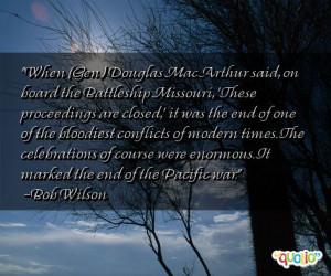When (Gen.) Douglas MacArthur said, on board
